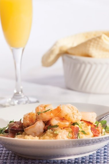 Fabulous Christmas Breakfast Recipes -- Shrimp & Bacon Grits pair well ...