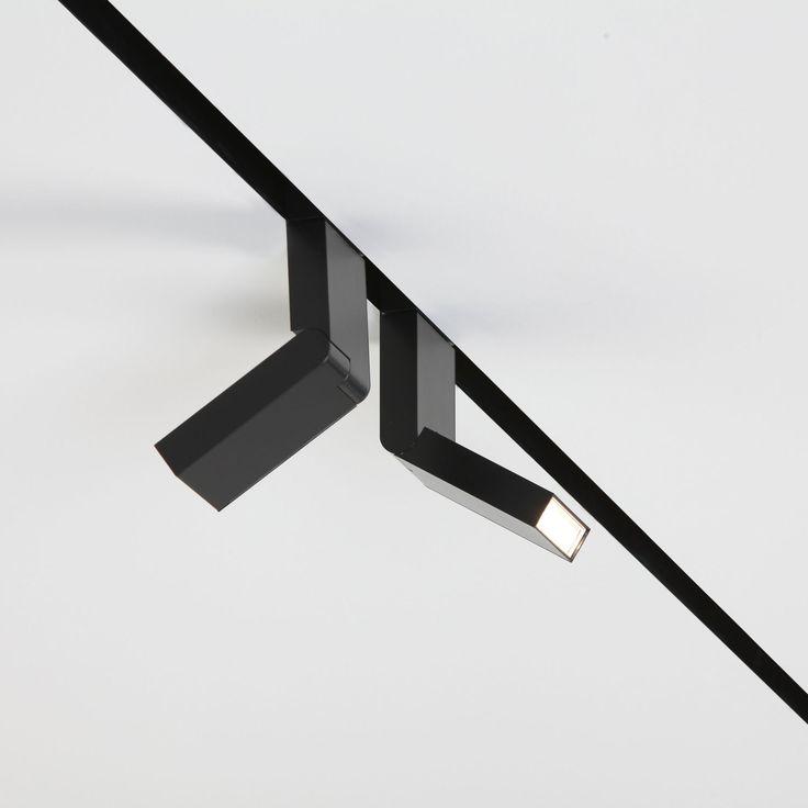 LED track light / rectangular / aluminum / orientable - ON-LINE : TURN by Bart Lens - Eden Design B.V.B.A