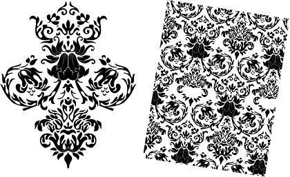 Free Baroque Floral Vector Pattern - All-Free-Download.com