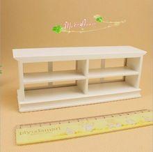 Mini doll house accessories mini furniture model pure white shop cake cabinet display cabinet(China)