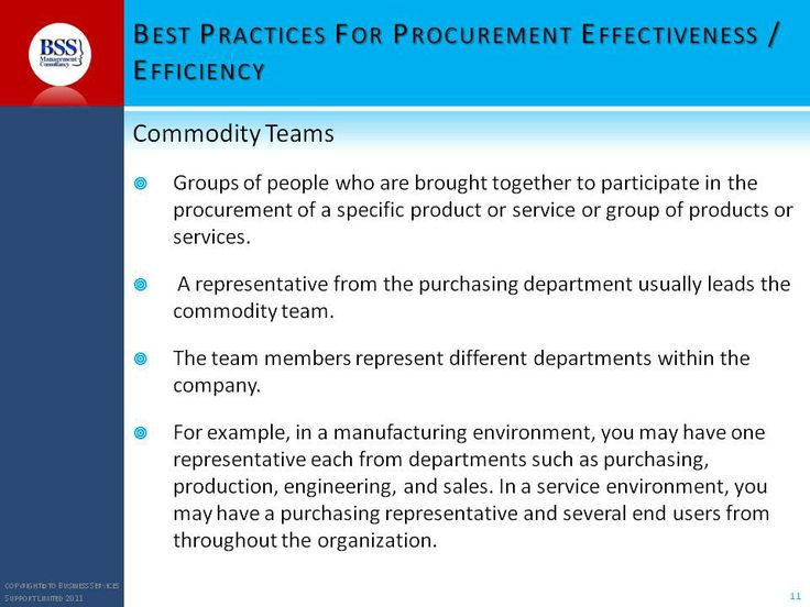 Materials for training- Procurement training course- handling tenders through commodity team