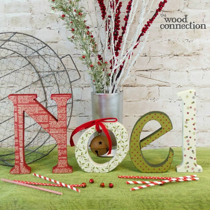 150 best christmas images on pinterest craft stores diy wood noel wood letters spiritdancerdesigns Images