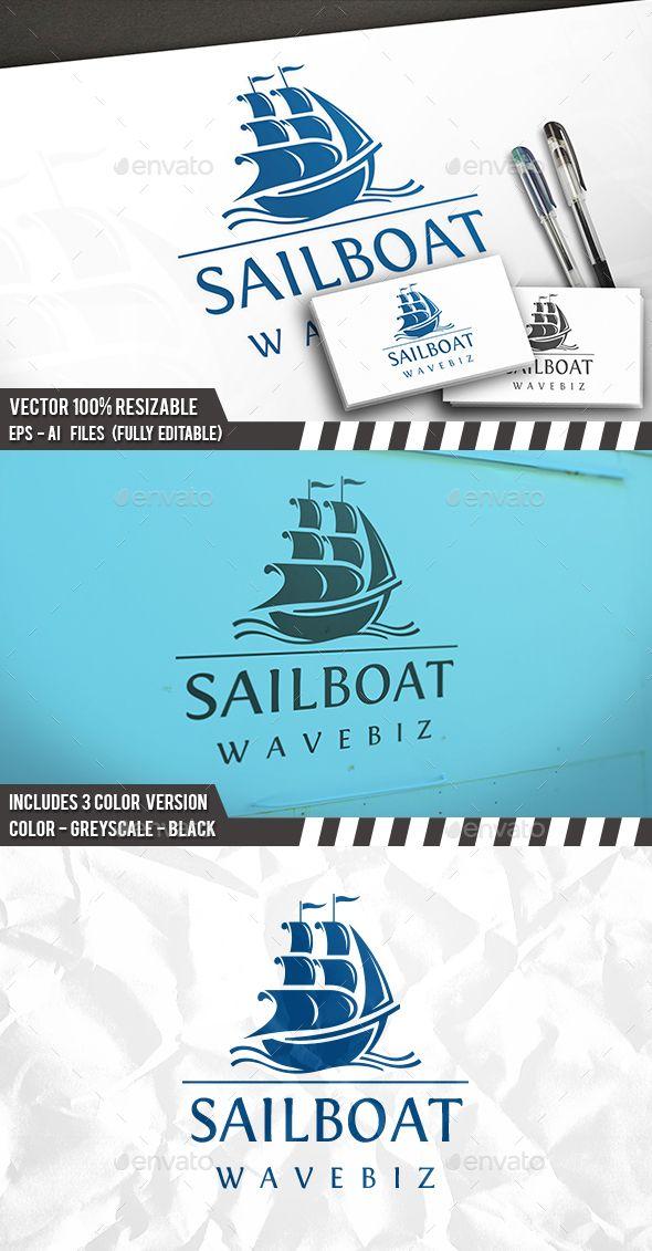 Sail Waves Logo Template PSD, Vector EPS, AI Illustrator