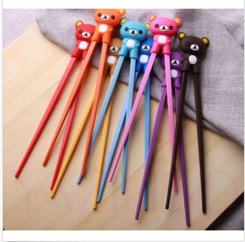 New-Pretty-Bear-Rubber-Children-training-chopsticks-randomization-sent-1pairs