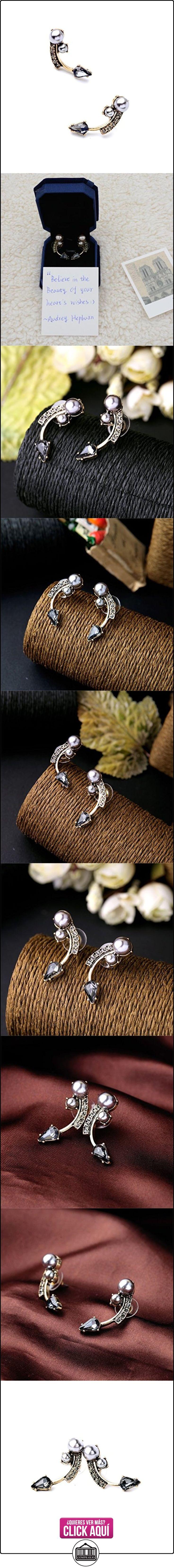 Lares Domi Vintage Gold-tone Crystal imitación Incrustada Gris Spinel elegante retro pendientes  ✿ Joyas para mujer - Las mejores ofertas ✿ ▬► Ver oferta: https://comprar.io/goto/B01J7692U6