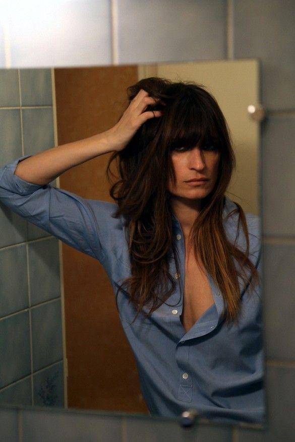 Caroline+de+Maigret+Is+The+Star+Of+Equipment's+Fall+Lookbook+via+@WhoWhatWear