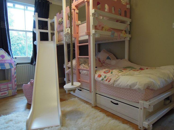 Die besten 25+ Etagenbett weiss Ideen auf Pinterest | Queen-size ... | {Etagenbett mit rutsche 20}