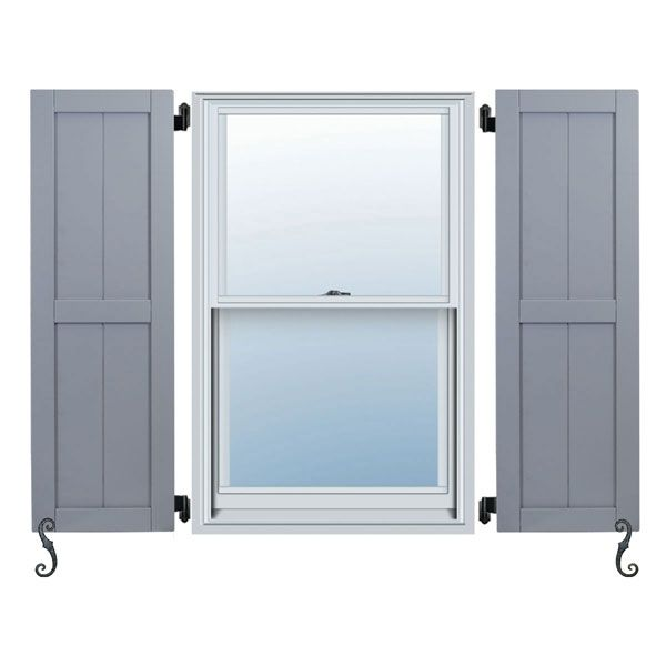 Noralco Industries, Inc. RBD101 Traditional Composite Two Equal Panel Framed Board-n-Batten Shutters, Installation Brackets Included (Per Pair) Shutters - Composite203465 - ArchitecturalDepot.com