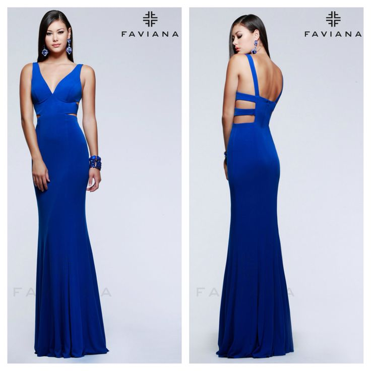 Faviana 7541 for $298. Available in Royal and Red. Mia Bella Couture. California Glam. Faviana. Evening Gown. Long Dress. Stunning. Elegant. Breathtaking. Fashion. Style. Love.