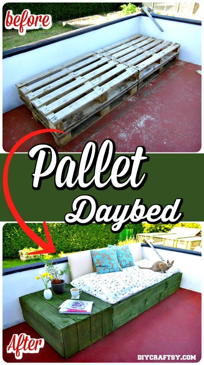 Easy Stacked Pallet Daybed - 150 Best DIY Pallet Projects and Pallet Furniture Crafts - Page 16 of 75 - DIY & Crafts
