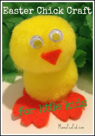 Cute, easy, fluffy Easter chicks craft for kids!