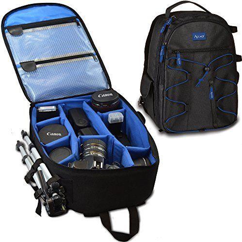 Zaino fotocamera Acuvar professionale DSLR per Canon, Nikon, Sony, Olympus, Samsung, Panasonic, Pentax fotocamere