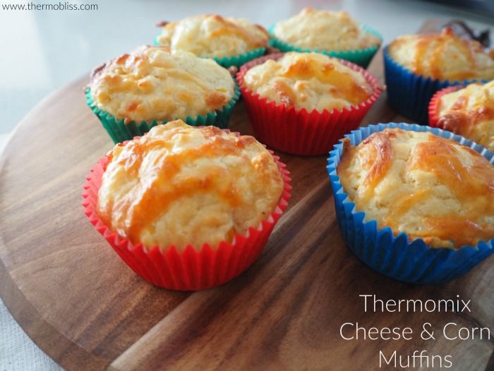 These Thermomix Cheese and Corn Muffins make a great savoury snack and are perfect for school lunch boxes too. This recipe is an adaptation of our Savoury