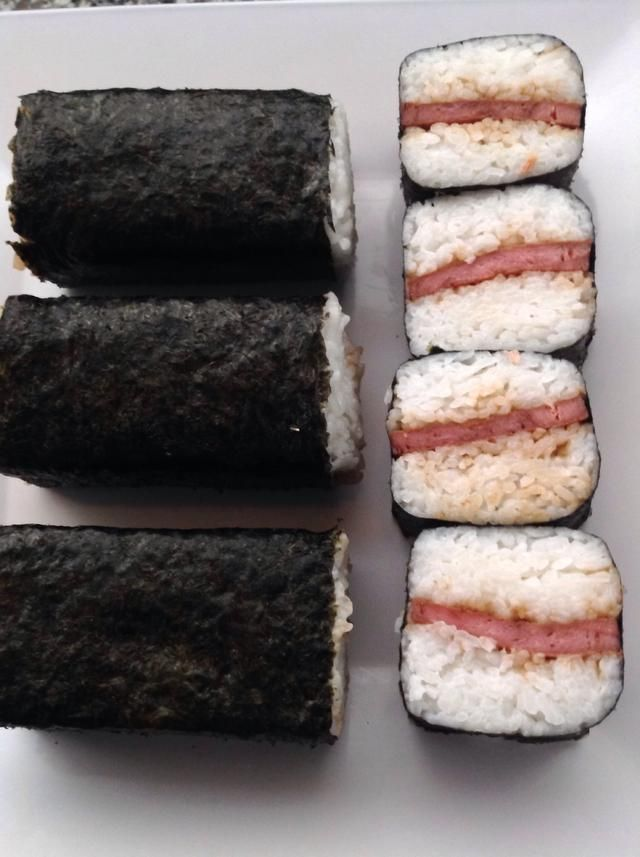 Then you can enjoy your SPAM musubi.