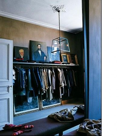 Art gallery in closet...