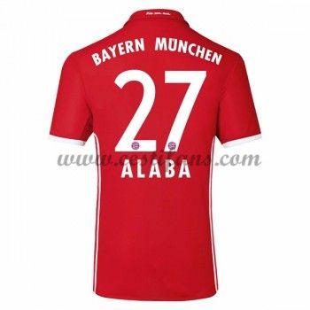 Bayern Munich Fotbalové Dresy 2016-17 Alaba 27 Domáci Dres