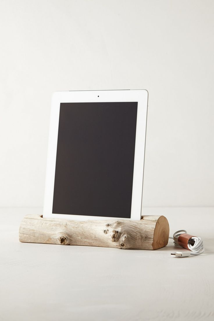 Driftwood iPad Dock - Anthropologie.com I could take or leave the dock, I just want the iPad!!!