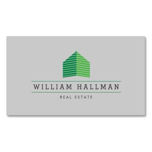 Green Home Logo Builder Real Estate Business Card | Green ...