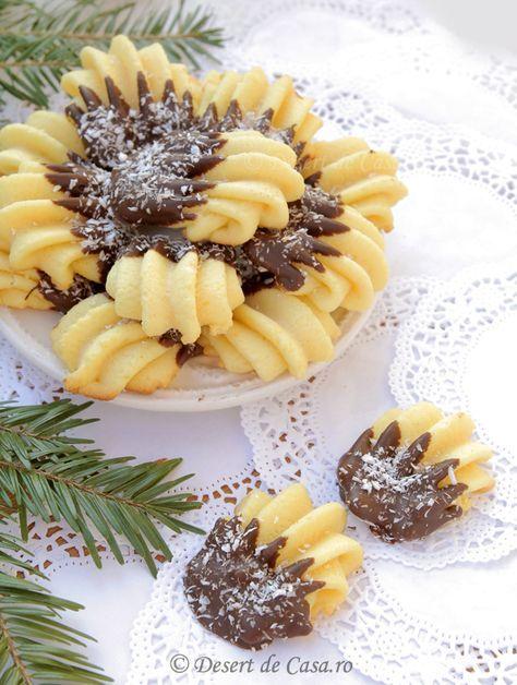 Fursecuri cu ciocolata si nuca de cocos - Desert De Casa - Mara Popa