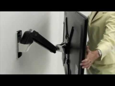 Soporte para pantalla TV LED Brazo articulado pared instala LCD - YouTube