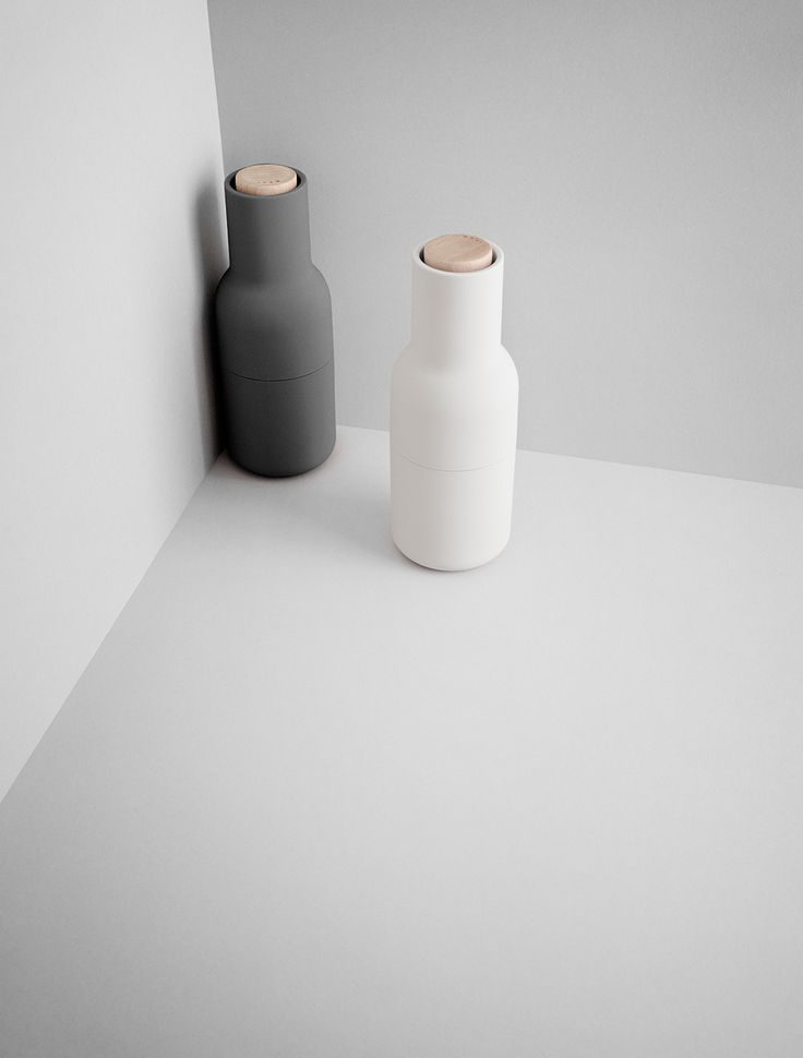 Bottle Grinder S, Ash/Carbon Design by Norm Architects