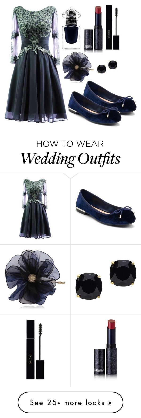"""Outfit #1925"" by ivanna1920 on Polyvore featuring Apt. 9, Guerlain, Lipstick Queen, Gucci, Lanvin and Kate Spade"