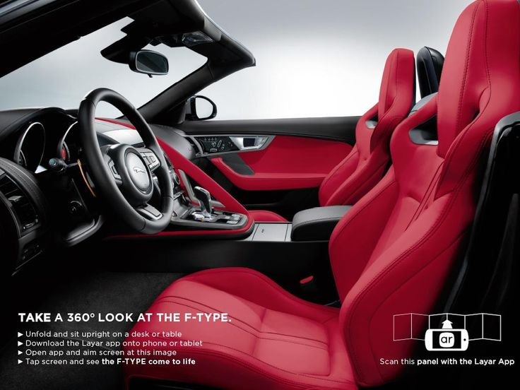 WOW, nice example of an interactive, AR-enriched ad for the Jaguar F-type. Scan with the @Layar App.