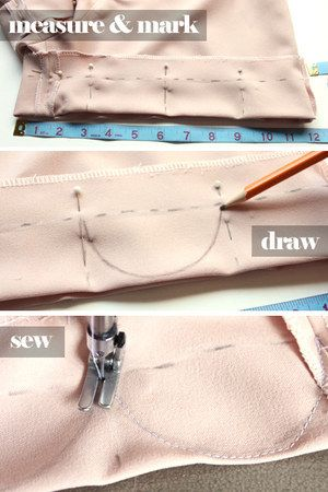 Adding a scallop cut to skirts, shorts and dresses.