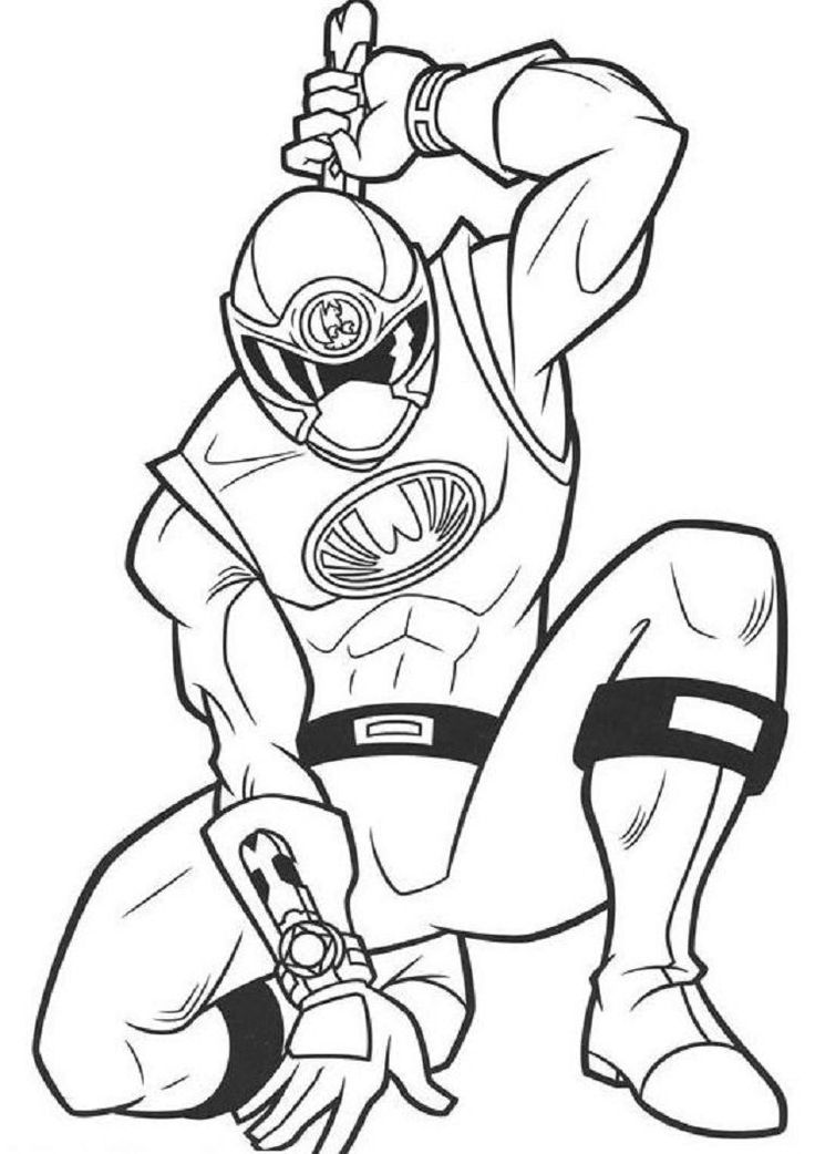 Power Ranger Ninja Coloring Pages Color Power Rangers