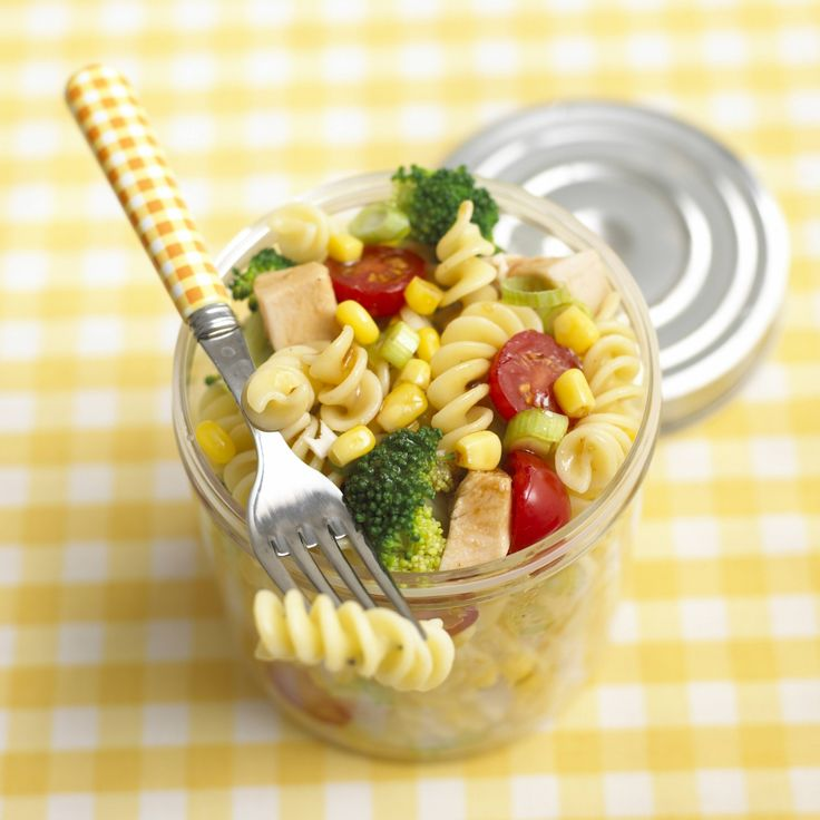 Top for tots is this Chicken Pasta Salad brimming with fresh veggies.