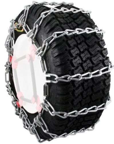 Provides great traction for your snow blower or garden tractor Zinc plated chains for extra durability 2-link chain spacing provides superior traction