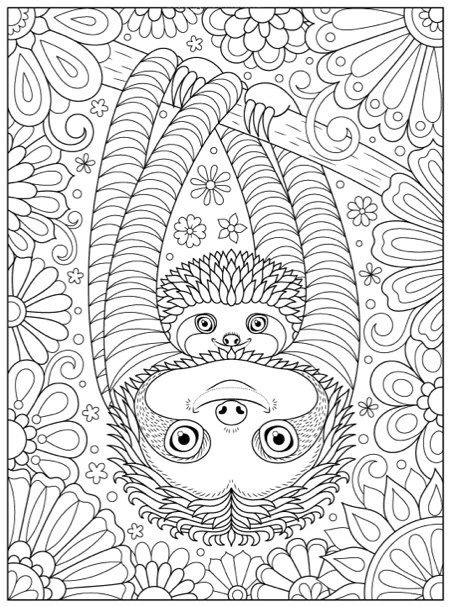 790 best Animal Coloring Pages for Adults images on Pinterest - new animal coloring pages with patterns