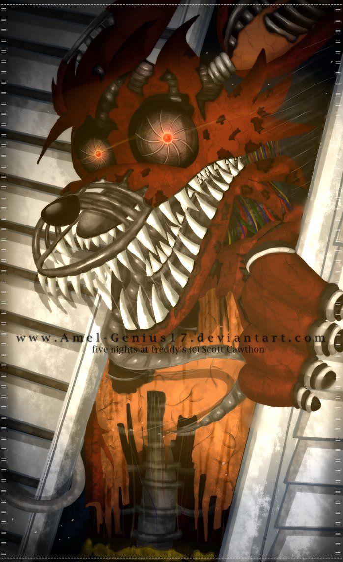 =FNAF= Nightmare Foxy! by Amel-Genius17 on DeviantArt