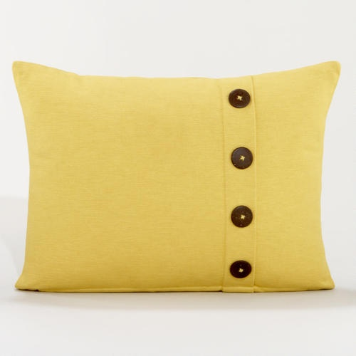 Yellow Ribbed Throw Pillow with Buttons House Decor Pinterest
