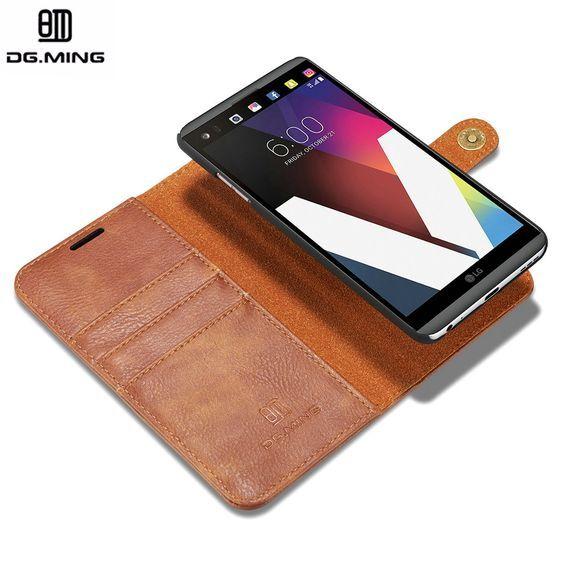 DG.Ming 2Z 2 in 1 Magnetic Genuine Leather Cover Luxury Flip Case for LG V20 Case Fundas Capinha Coque For LG V20 Case Cover