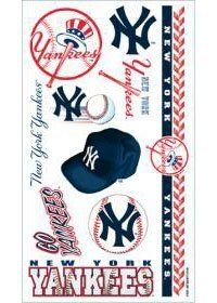 New York Yankees MLB Temporary Tattoos (10 Tattoos) by Caseys. $2.95. What a fun way to show your team spirit! Each package includes one sheet of 10 tattoos. The tattoos are completely safe non-toxic hypo-allergenic and all ingredients are FDA regulated . They last for days and can be easily removed with household rubbing alcohol or baby oil.Made by WinCraft.