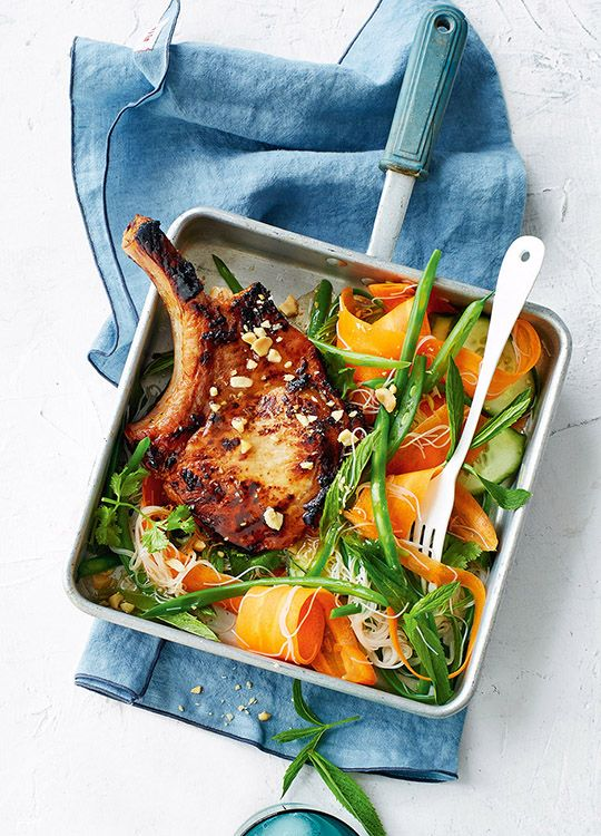 How to make Vietnamese-Style Pork Chops With Noodle Salad