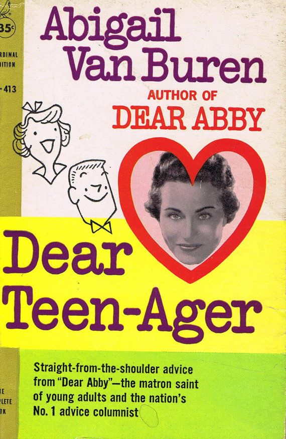 Hey, I found this really awesome Etsy listing at https://www.etsy.com/listing/175931194/vintage-retro-sixties-dear-teen-ager-by