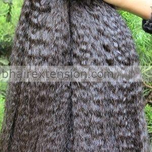 7A Malaysian Kinky Straight Hair Weaves 100% Virgin Human Hair Extension 3pcs Hair Bundles Coarse Yaki Virgin Hair.