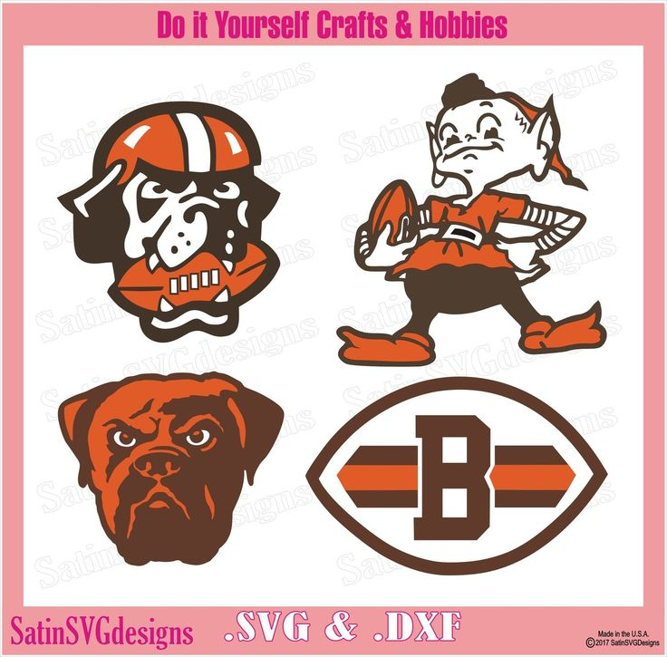 Cleveland Browns Dawg Set NFL Design SVG Files, Cricut, Silhouette Studio, Digital Cut Files