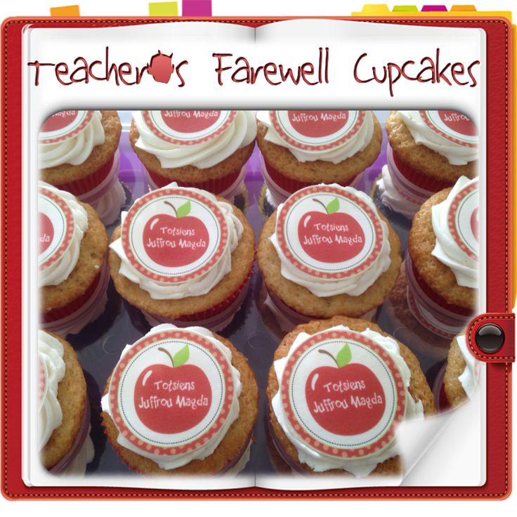 Teacher's Farewell Cupcakes