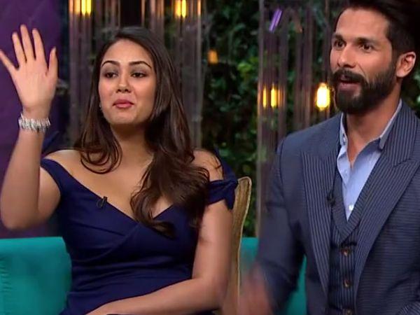 Watch: Mira Rajput reveals one bad habit of Shahid Kapoor on 'Koffee With Karan 5'