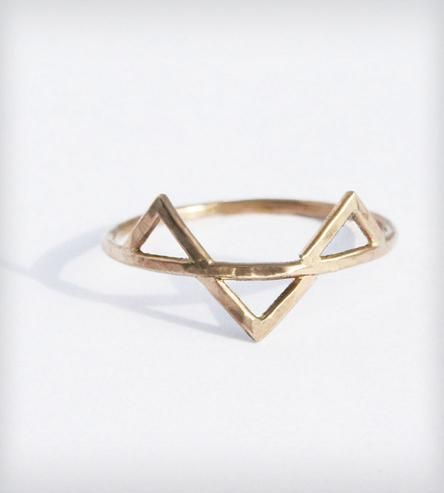 Gold Three Spikes Ring by SteFanie Sheehan Designs on Scoutmob Shoppe