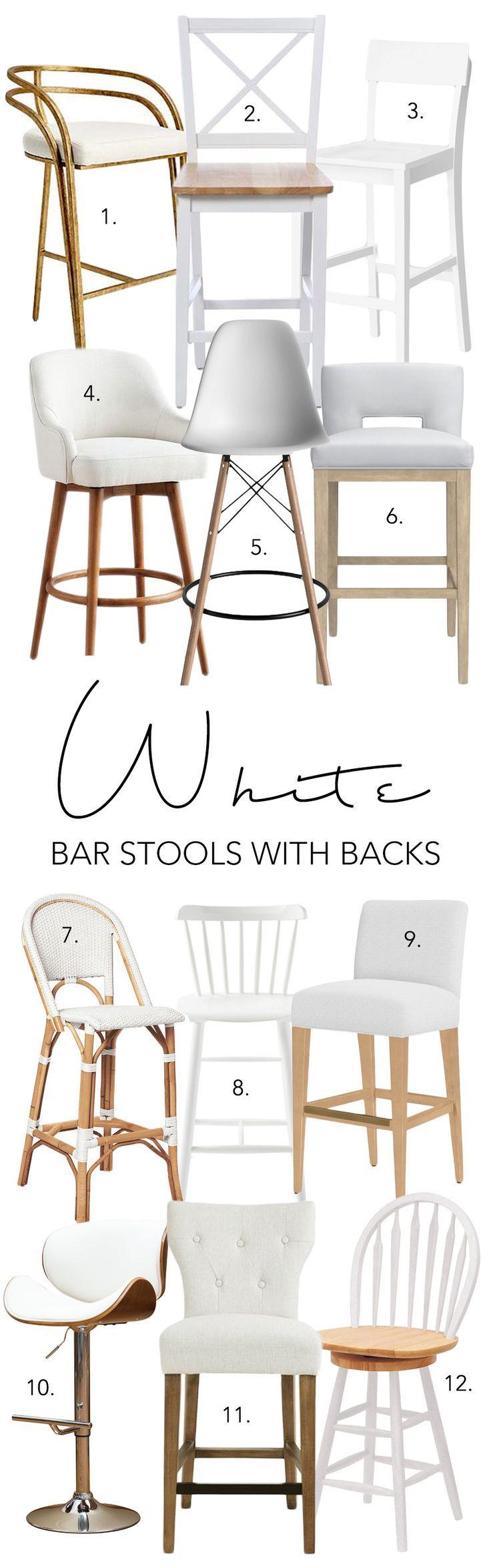 White Bar Stools With Backs 12 Stylish Options White Kitchen Bar Stools White Bar Stools Bar Stools With Backs