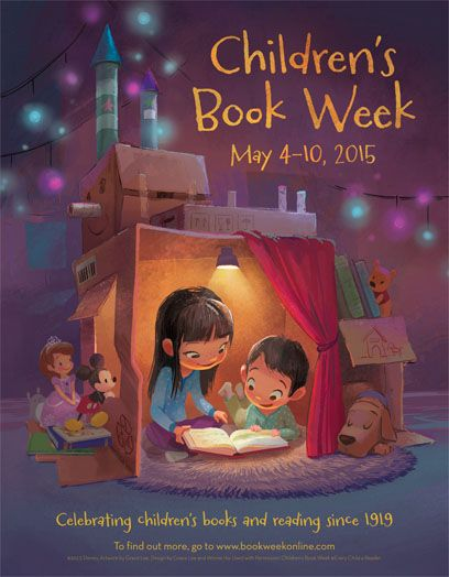 The official poster commemorates the 96th annual celebration of Children's Book Week (May 4-10, 2015), the longest-running national literacy initiative in the country.