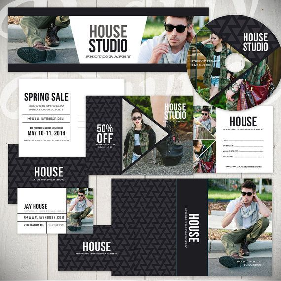 Photography Marketing Templates:  House Studio - Marketing Set of 14 Business Templates by Beauty Divine Design on Etsy