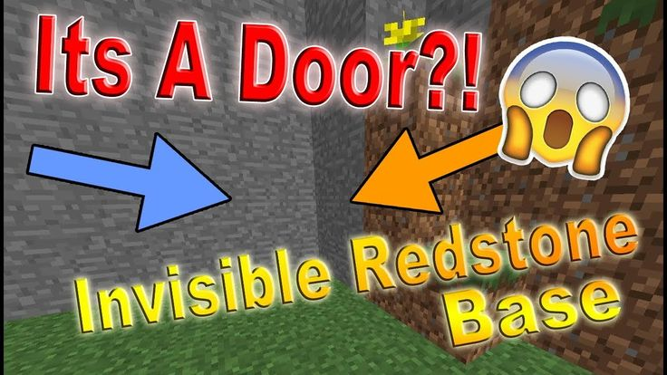 How to make a Minecraft Invisible Redstone Door Create a