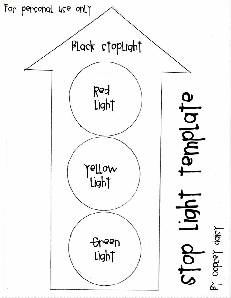 Quiet Book Templates - stop light