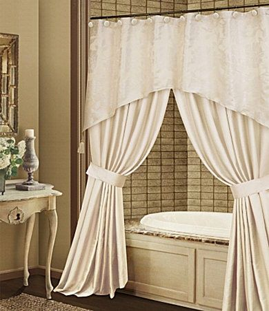 Bathtub Curtains With Valance