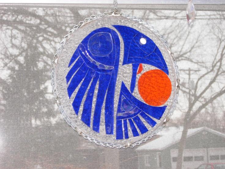 Northwestern style raven outdoor glass spinner: Northwestern Style, Style Ravens